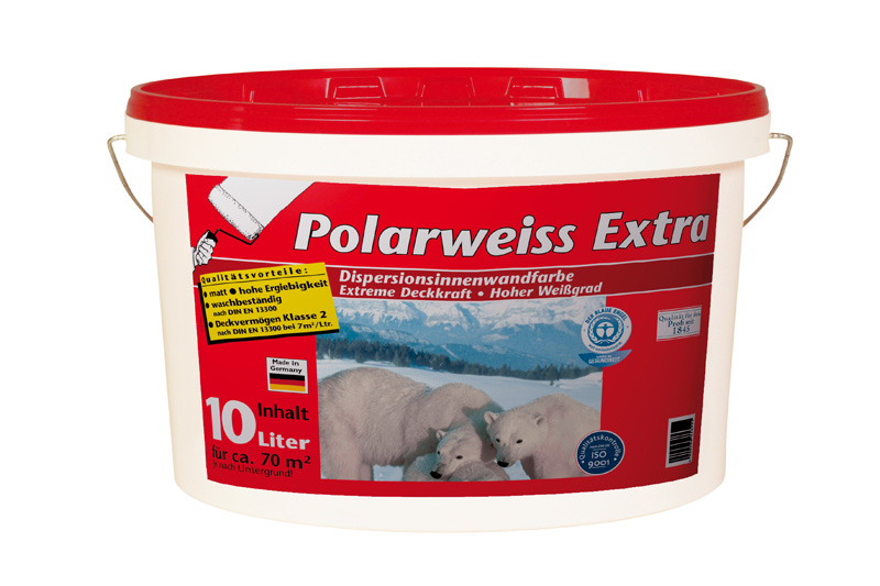 Test Innenfarben-Wand - Wilckens Polarweiss Extra - sehr gut